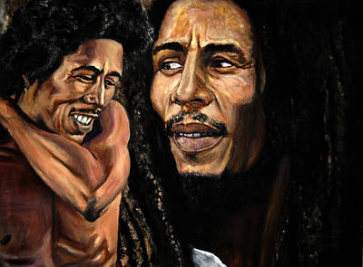 Bobmarley Painting - Bobmarley by Roger  James