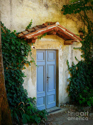 Photograph - Boboli Blue Door by Valerie Reeves
