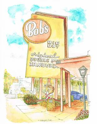Bob's Big Boy In Burbank, California Art Print by Carlos G Groppa