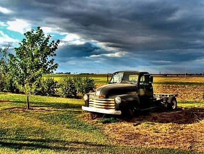 Photograph - Bob's Old Chevy Truck In The Spring by Julie Dant