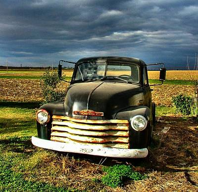 Photograph - Bob's Old Chevy Truck by Julie Dant