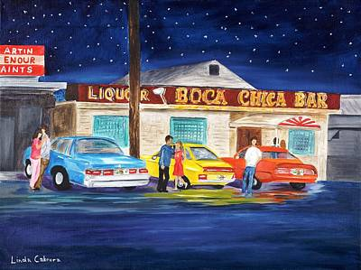 Boca Chica Bar Art Print by Linda Cabrera