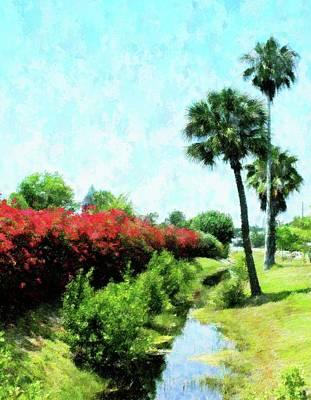 Mixed Media - Boca Grande Floral by Florene Welebny