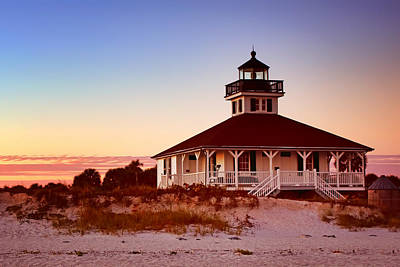 Frame House Photograph - Boca Grande Lighthouse - Florida by Nikolyn McDonald