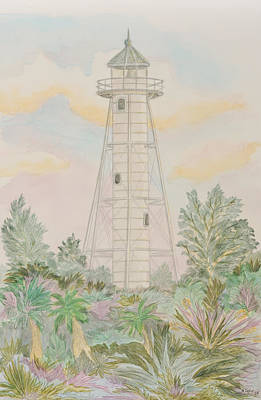 Painting - Boca Grande Lighthouse by Nancy Taylor