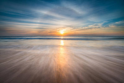 Soothing Photograph - Boca Raton Fl Beach - Sun Dog Sunrise by Dave Allen
