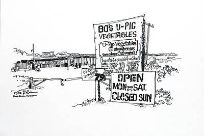Vegetable Market Drawing - Boca Raton U-pic Vegetable Market by Robert Birkenes