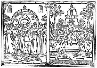 Boccaccio's 'decameron' Art Print
