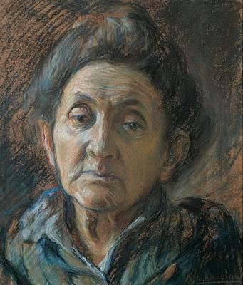 Boccioni Umberto, Portrait Of An Old Art Print by Everett