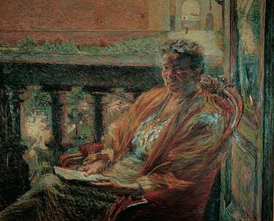 Boccioni Umberto, Portrait Of Mrs Meta Art Print by Everett