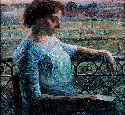 Pause Photograph - Boccioni Umberto, The Sister by Everett