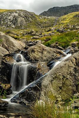 Walker Digital Art - Bochlwyd Waterfall by Adrian Evans