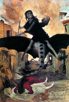 Photograph - Bocklin: The Plague, 1898 by Granger