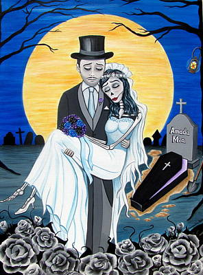 Painting - Boda Negra Enterrador by Evangelina Portillo