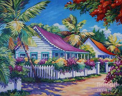 Bvi Painting - Bodden Town Colours by John Clark