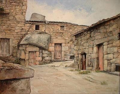 Spain Painting - Bodegas En Fermoselle by Tomas Castano