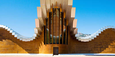 Bodegas Ysios Winery Building, La Art Print by Panoramic Images
