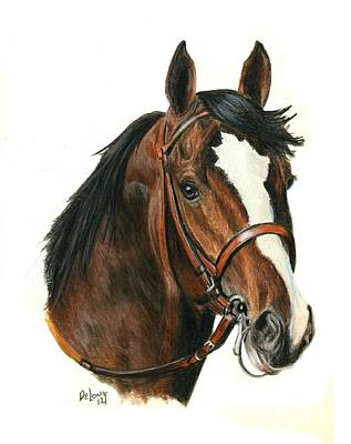 Race Horse Painting - Bodemeister by Pat DeLong