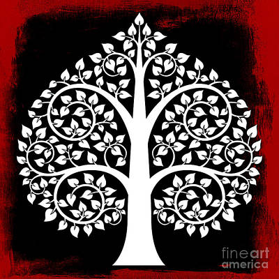 Bodhi Tree Digital Art - Bodhi Tree No.6 by Bobbi Freelance