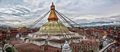 Photograph - Bodhnath Stupa Kathmandu by Reinhard Goldmann