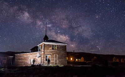 Nightsky Photograph - Bodie At Night by Cat Connor