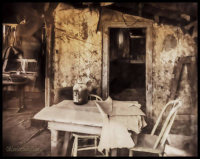 Photograph - Bodie California Jug On Table by LeeAnn McLaneGoetz McLaneGoetzStudioLLCcom