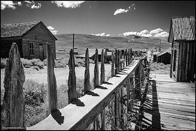 Photograph - Bodie California Long Dusty Road by LeeAnn McLaneGoetz McLaneGoetzStudioLLCcom