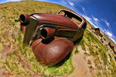 Photograph - Bodie Car Grave Yard by Blake Richards
