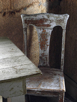 Bodie Chair And Table Art Print by David Marr