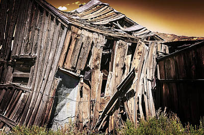 Photograph - Bodie Forgotten Shelter by LeeAnn McLaneGoetz McLaneGoetzStudioLLCcom