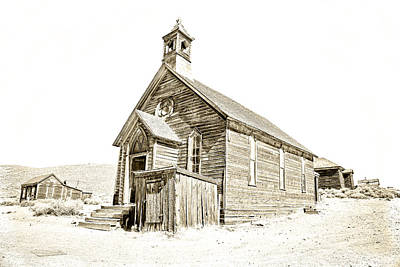 Photograph - Bodie Ghost Town Church by Steve McKinzie