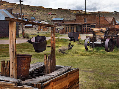 Western Ghost Town Photograph - Bodie Ghost Town by Leland D Howard