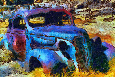 Ghost Town Digital Art - Bodie Ghost Town Plymouth by Barbara Snyder