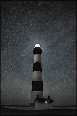 Photograph - Bodie Island Light Midnight by Erika Fawcett