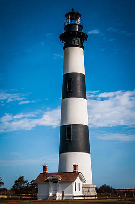 Curated Beach Towels - Bodie Island Light by Penny Lisowski