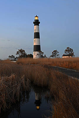Photograph - Bodie Island Light Reflection by Jamie Pattison