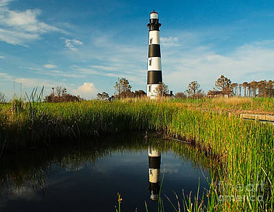 Photograph - Bodie Island Light Reflection by Nick Zelinsky