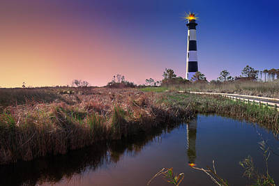 Photograph - Bodie Island Light Station by Mary Almond