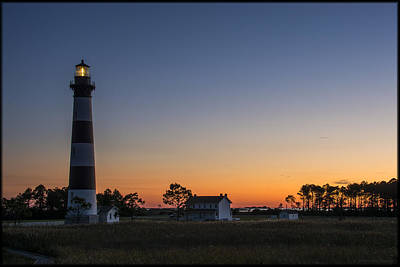 Photograph - Bodie Island Light Sunset by Erika Fawcett