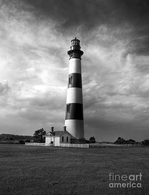 Photograph - Bodie Island Lighthouse 2 Bw by Mel Steinhauer
