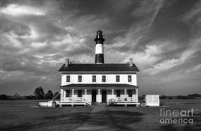 Photograph - Bodie Island Lighthouse 3 Bw by Mel Steinhauer