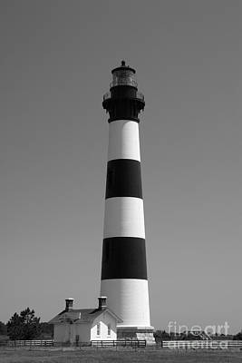 North Carolina Lighthouses Photograph - Bodie Island Lighthouse In Black And White by Jill Lang