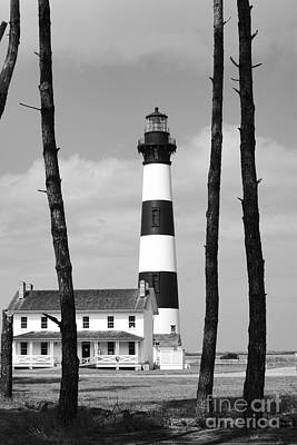 Bodie Island Lighthouse In The Outer Banks Art Print