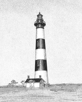 Lighthouse Drawing - Bodie Island Lighthouse by Stephany Elsworth