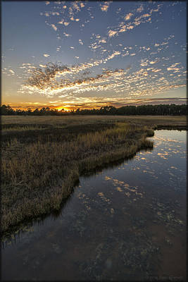 Photograph - Bodie Island Sunset by Erika Fawcett