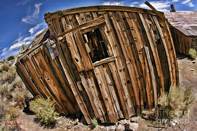 Photograph - Bodie Leaning Building Color by Blake Richards