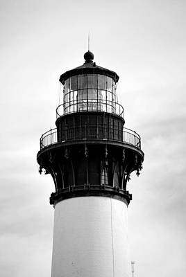 Art Print featuring the photograph Bodie Lighthouse Lens In Black And White by Bob Sample
