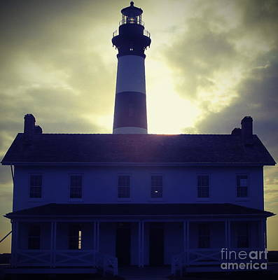 Marsh Photograph - Bodie Light And Keepers Quarters by Cathy Lindsey