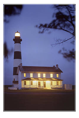 Bodie Light Just After Dark Art Print by Mike McGlothlen
