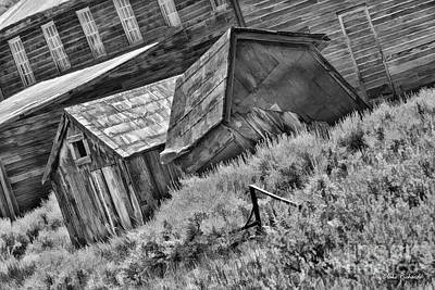 Photograph - Bodie Misplaced Shack Black And White by Blake Richards